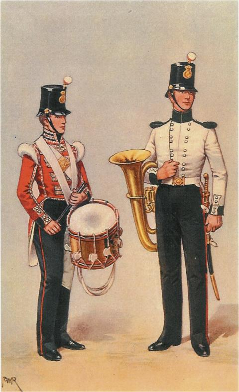 19th Foot Bandsman and Drummer 1852